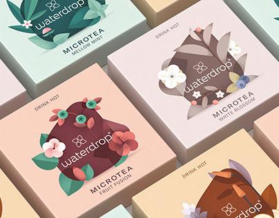 Microtea · Tea packaging illustrations
