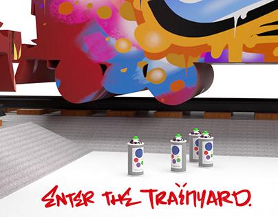 Enter the Train Yard - Immersive Graffiti Pop-Up