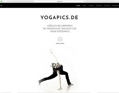 Website für einen Fotografen: www.yogapics.de