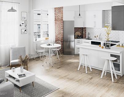 Scandinavian Interior Design | CGI visualization