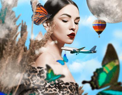 Mujer de Sueños Vívidos - Fotocomposición