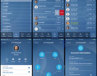 VoIP Mobile App UI Design