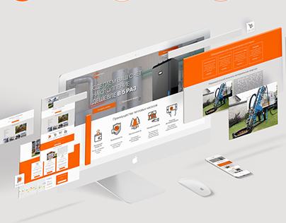 Web development for Helios company