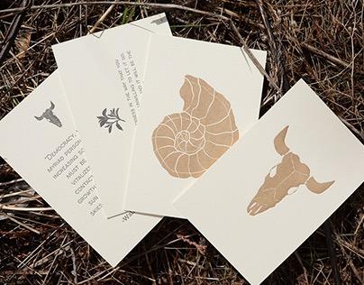Western Letterpress Cards