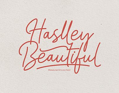 Haslley Beautiful Monoline Stylish Font