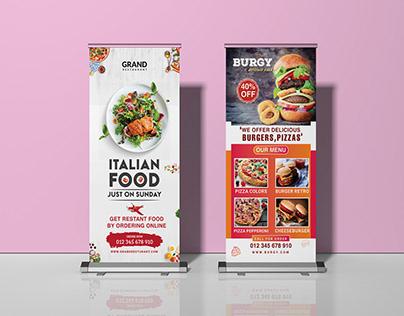 Restaurant Roll Up Banner Design 2020