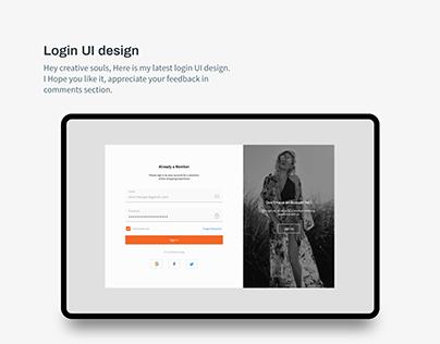 Login UI design