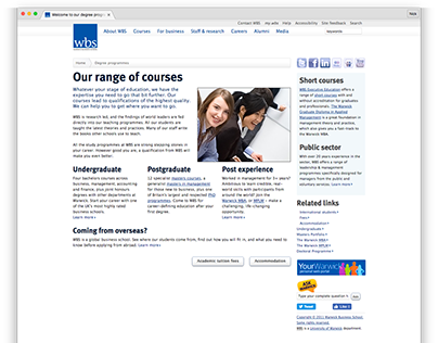 Warwick Business School - 2010 website
