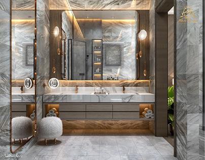 Master bathroom design in ksa