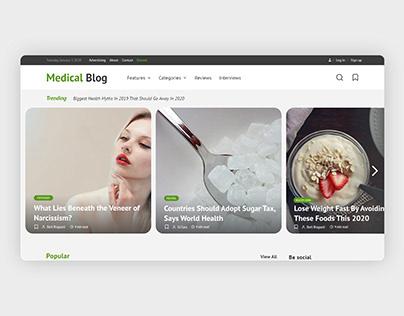 Medical Blog web design