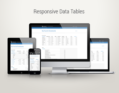 Design System Guidelines (Responsive, HTML Tables)