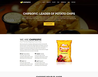 Chipsofic - Template for Chips, Fries & Food Seller