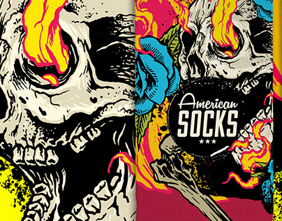 FIREBALL - Illustration for American Socks - BARCELONA