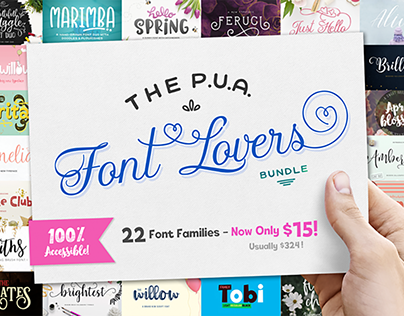 The PUA Font Lovers Bundle