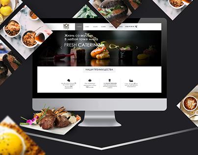 """Кейтеринговая компания """"Caterin Fresh"""" - сайт визитка"""