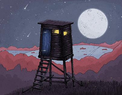 Forest watcher hut