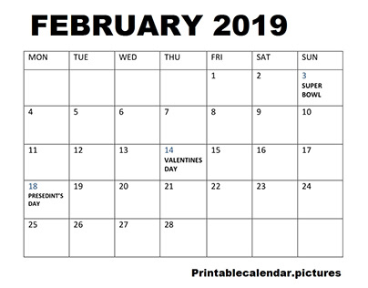 February Facts and Holidays