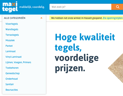 Maxitegel - One-stop webshop proposal