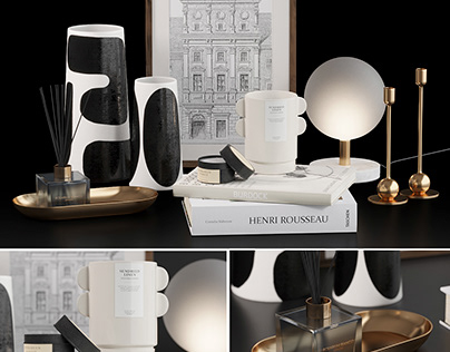Decorative set H&M with Franca NYC Vases