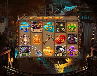 """Online slot machine """"Goblin Mine"""""""