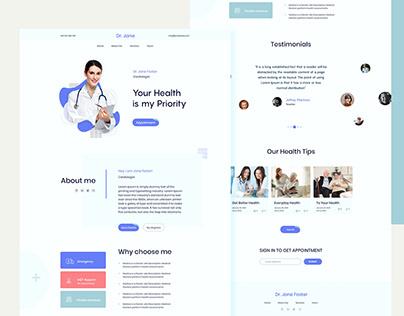 Doctor Personal Website