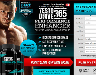 Testo Drive 365 - Pump Your Large Muscles With Inproved