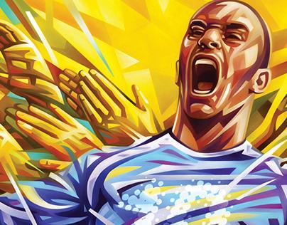 soccer game print