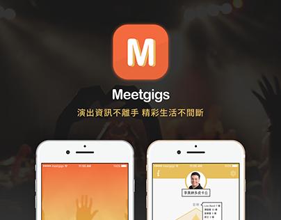 Meetgigs APP- Performance information for everyone