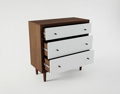 Modern Dresser | 3D Model