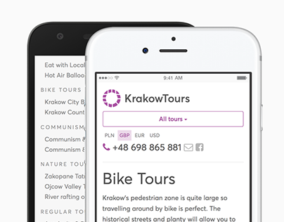 Krakow Tours - Design & Build