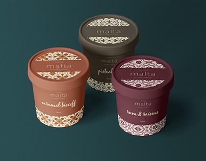 Malta Ice Cream Branding & Packaging