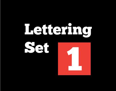 Lettering set 1