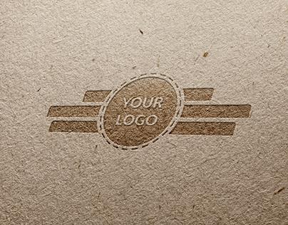 Free Pressed Paper (Embossed Paper) Logo Mockup