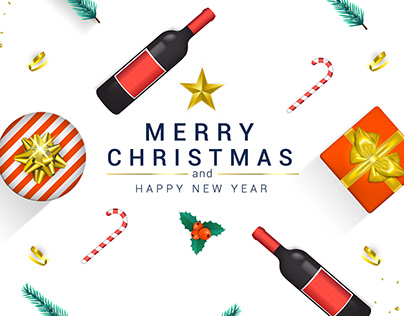 Flat Line Design Concept Banner Happy New Year 2020 On Behance
