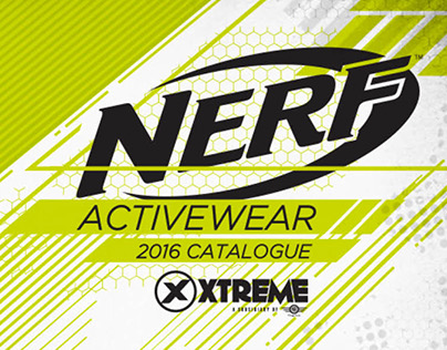 NERF Licensed Athletic Wear Catalogue (Design Pitch)