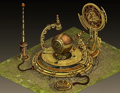 Ragewar Time Machine Concept Art