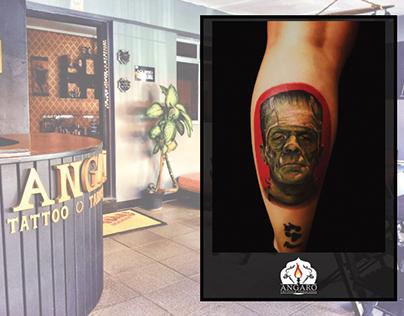 Criação da identidade visual da Angaro Tattoo & Lounge