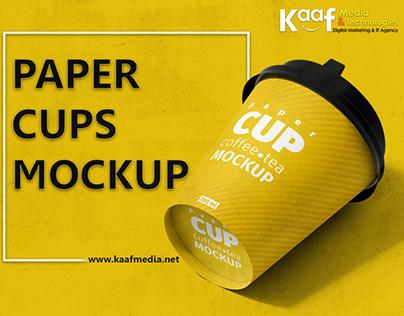 KaafMedia Paper Coffee - Tea Cups Mock-up Designs