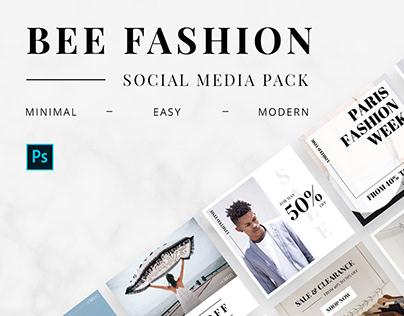 Bee Fashion Social Media Pack