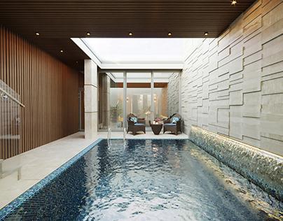 Luxury modern house. Saudi Arabia