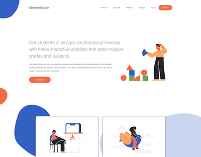 Landing Page of educational platform