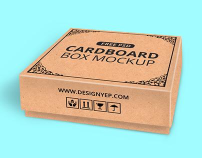 Free Cardboard Box Mockup PSD