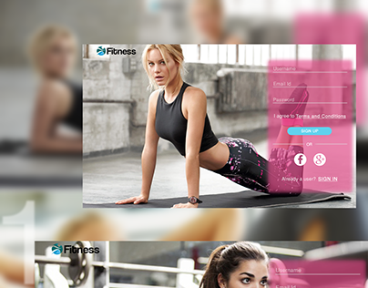 Landing Page for Fitness website