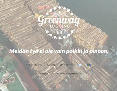 """Responsive Wordpress """"one pager"""" for Greenway Logging."""