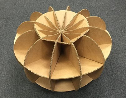 Paper Pouf