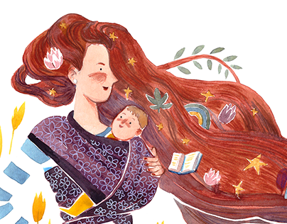 Illustrations about inspiring parenthood