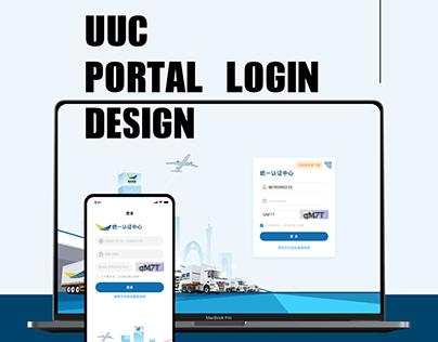Portal login design