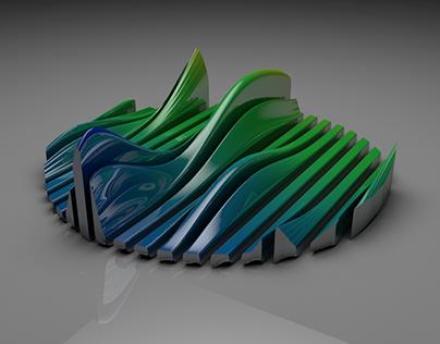 Wave Gradient C4D