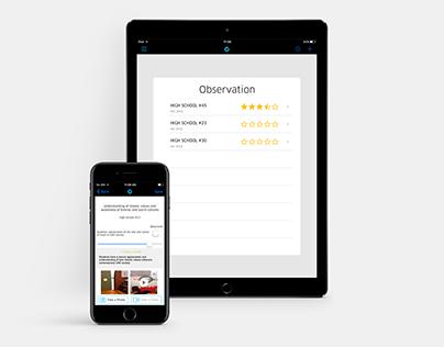 School Observation App