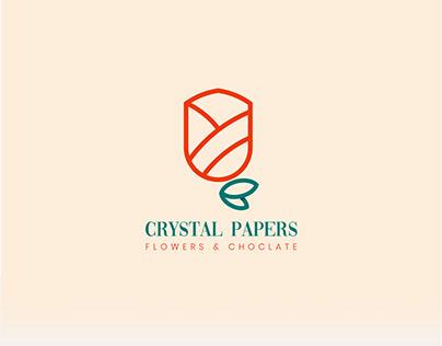 Crystal Papers Logo branding
